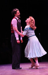 """Noah Racey and Anne Horak as Bobby Child and Polly Baker in the Music Circus production of """"Crazy for You"""" at the Wells Fargo Pavilion Aug 28 – Sep 2. Photo by Charr Crail."""