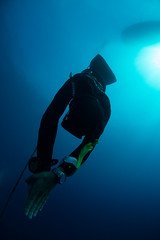 Athlete training for the 2015 Nice Abyss Competition (William Rhamey) Tags: sea freediving apnea mediterraneansea nac freediver niceabysscontest