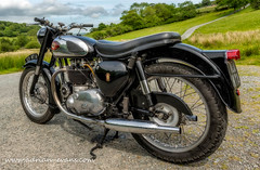 BSA Motor Bike (Adrian Evans Photography) Tags: road uk trees summer sky black tree broken grass wales clouds forest vintage landscape countryside birmingham outdoor motorbike lane motorcycle vehicle british hdr 1961 bsa guage northwales birminghamsmallarmscompany
