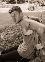 Justin (Shawn Collins Photography) Tags: shirtless hairy male guy sports dedication beard outdoors photography athletics model couple photoshoot modeling masculine muscle stare fitness gym abs built fit malemodel scruff weightlifter fitnessmodel shirtlessguy outdoorphotoshoot modelcouple