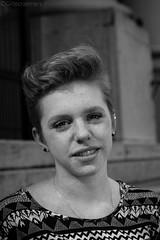black and white portrait (GitteCraemers) Tags: canon eos 50d model modelphotography portrait