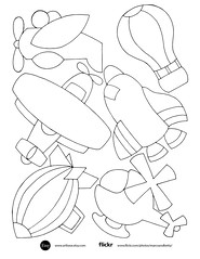 Air collection (marcoandbetty) Tags: kids embroidery pattern balloon airplane helicopter spaceship clipart stock vector image black white monochrome royaltyfree free original design