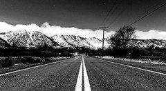 Night Rider (JarrodLopiccolo) Tags: blackandwhite sierranevada carsonvalley road mountains sierra stars 24mm