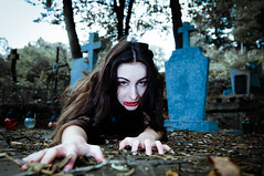 Pretty vampire near tree (GrasePhoto.) Tags: pretty halloween vampire near tree blood woman longhair brunette brunet terrible frightful fearful dreadful scary scaring white caucasian one closeup hungry portrait forest evening beautiful cold black chain fear fantasy creature alive death grave cross cemetery burialground graveyard sit sepulchre green pink red iconlamp lookingatcamera
