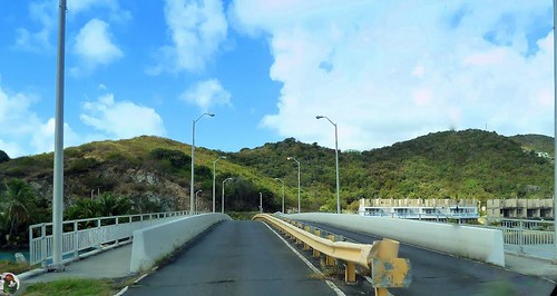 Tortola, Karibik - The Queen Elizabeth II Bridge the Terrance B. Lettsome International Airport on Beef Iceland