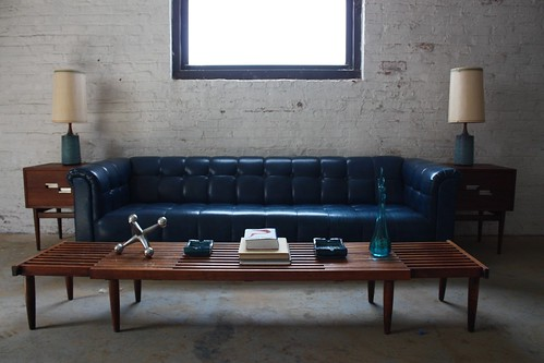 ***ON DECK*** Electrifying Mid Century Modern Tufted Chesterfield Sofa (U.S.A., 1970s)