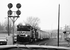 Thoroughbreds & CPLs (HenchPhoto) Tags: railroad train ns marion signal cpl railroadcrossing norfolksouthern emd sd70m2