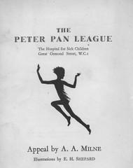 1. Peter Pan League Appeal  - AA Milne (Great Ormond Street Hospital Children's Charity) Tags: peterpan league aamilne ehshepard
