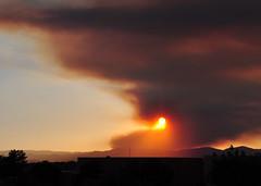 Southwest US - Santa Fe - Thompson Ridge Fire (zendt66) Tags: vacation sun newmexico santafe clouds fire nikon smoke wildfire d90 zendt66 thompsonridgefire