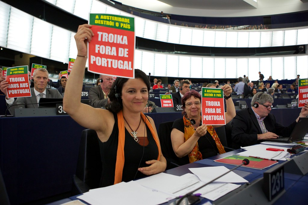Demonstration EURODAC & Troika out of Portugal