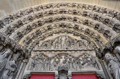 Laon (Aisne) - Cathdrale Notre-Dame - Portail ouest (Morio60) Tags: notredame cathdrale 02 picardie laon aisne