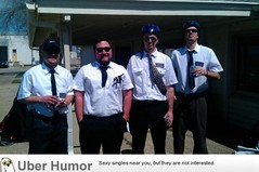 Went to a golf tournament dressed like Mormons. Needless to say we were avoided all day. (sxairel) Tags: funny lol humor best jokes fail