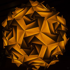 20130615_F0001: Hexagonal origami shapes (wfxue) Tags: light abstract lamp paper origami pattern geometry hexagonal hexagon fold