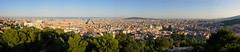 Barcelona (Jos Garrido) Tags: barcelona park city travel parque sunset panorama spain cityscape afternoon cross pano tripod warmth modernism crosses unesco worldheritagesite gaudi catalunya catalua