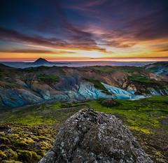 Iceland Keilir (Lovepro) Tags: sunset summer sky panorama mountain night clouds iceland outdoor sumar myndir ntt sk krsuvk fjll fjall slsetur 2013 hverasvi rstir suurnesi jhgphotos