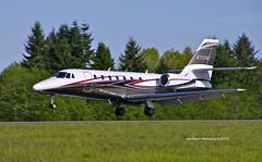 N715WE  Cessna 680 ___ 2013 05 01 _IGP9842 ed1 WM (Vintage Racer) Tags: art field general pentax aviation cessna 680 paine bizjet k7 kpae n715we