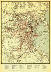 1916 System- (calvin.metcalf) Tags: boston vintage maps cartography mbta