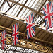 Union Jacks in Waterloo Station