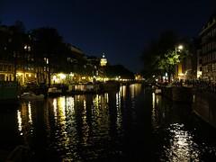 DSCF2605 (pepi1983) Tags: street bridge holland netherlands amsterdam night buildings river photography canal centrum amstel x20 fujix20 fujifilmx20