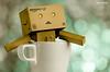Happiness! (ciccioetneo) Tags: cup japan dof bokeh cartoon mug danbo nikkor80200mm nikkor80200mmf28 danboard nikkor80200mmf28ded nikond7000 revoltechdanbo elbokehwall danboadventures revoltechdandoard