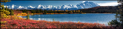 Wonder Lake (Ed Boudreau) Tags: autumn alaska landscape fallcolors vista blueskies tundra mountmckinley wonderlake alaskamountains denaliparkroad mygearandme mygearandmepremium mygearandmebronze