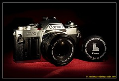 CANON AV-1. 1 (adriangeephotography) Tags: camera old classic 120 film leather 35mm vintage lens photography early box antique rangefinder collection chrome adrian accessories gee array collectable fujis5pro nikon55mmf28 adriangeephotography