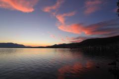 last daylight... (Simos1968) Tags: sunset sea bluehour stylida thesmallboatisleavingtheport