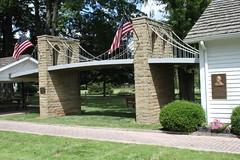 Brooklyn Bridge, Saxonburg, PA (joseph a) Tags: bridge museum pennsylvania replica brooklynbridge johnroebling roebling butlercounty saxonburg johnaroebling