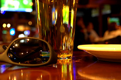 Sports bar (Cruise93) Tags: light detail public beer glass sunglasses closeup bar reflections table fun restaurant golden cafe shiny drink beverage plate indoor highlights alcohol reflective casual activity liquid sportsbar draftbeer casualdining socialactivity informaldrinkalcoholbeveragebeerdraftbeerglasssunglassesplategoldenreflectionstablesportsbarrestaurantfunactivitysocialactivitydetailcloseupliquidshinyreflectivelighthighlightsindoorcafebarcasualdiningcasualinformal