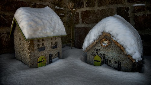 Little houses big snow