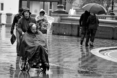 Couples... (A-Lister Photography) Tags: alisterphotography adamlister streetphotography street candidphotography candid realpeople reallife raining raindrops rain raincoat heavyrain heavy umbrella umbrellas weather wet pavement walking walkers walker walk wheelchair disabled elderly soaked soak city cityoflondon citylife people vulnerablepeople landscape horizontal nikond5100 london england uk