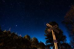 40 Miles outside Tuscaloosa, AL (Gwolf64) Tags: longexposure railroad stars crossing dof 24mm afterdark darksky stargazing d600