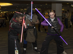 Star Wars - Light Sabers (blacksheep_vmf214) Tags: light columbus ohio anime canon star costume video glow cosplay culture games pop gaming convention saber glowing wars popculture con prop sabers ohayocon 2014 sabres