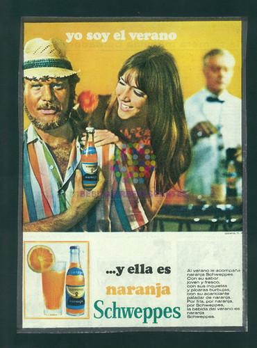 """Schweppes naranja. """"Yo soy el verano"""" Años 80"""