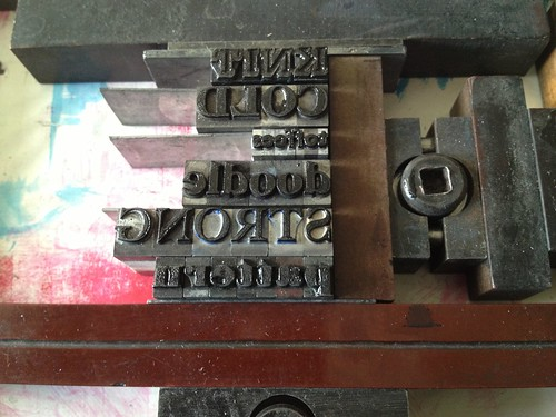 """Letterpress tests for Home exhibition • <a style=""""font-size:0.8em;"""" href=""""http://www.flickr.com/photos/61714195@N00/12462675805/"""" target=""""_blank"""">View on Flickr</a>"""