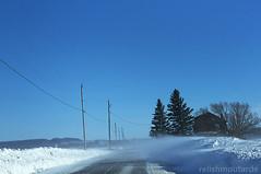 Poudrerie (relishmoutarde) Tags: vent bleu route froid poudrerie
