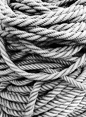 Cuerdas marineras (Mimadeo) Tags: old blackandwhite white black texture thread closeup port cord harbor fishing marine mess pattern ship harbour background twist cable rope knot line textures string strong strength sailor ropes nautical rough tied twisted textured interlaced