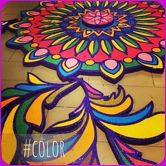 Angels? Happy Diwali~ May this year's... (macdlena) Tags: november day2 color photoaday diwali kolam rangoli lightfestival monthlychallenge uploaded:by=flickstagram instagram:photo=579953259471591127144827196
