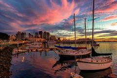 Sunset San Diego Bay (mojo2u) Tags: california sunset bay harbor sandiego sandiegoharbor nikon2470mm nikond800