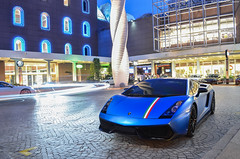 Beautiful Wrap (BLACKFOXPHOTOGRAPHY) Tags: blue light sexy love speed italian singapore shiny fierce extreme trails fast racing exotic stunning nightshots lovely lamborghini supercar supercars fastcars superleggera lightrails blackfoxphotography exoticars alexpenfold effspot v12khan sathyamelvani