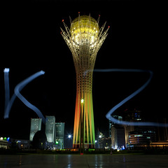 "Ligthing Effects On Baiterek Tower, Astana, Kazakhstan"" (Eric Lafforgue Photography) Tags: lighting building tower monument architecture night square outside outdoors exterior nightshot capital nopeople structure nightview lollipop centralasia kazakhstan kazakh modernarchitecture sights easterneurope astana squarepicture akmola akmolinsk bigchupachups kz8503"