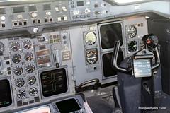 031. A300 G-OJMR Cockpit at BHX. 13-Apr-14 (paulfuller128) Tags: man manchester birmingham monarch airbus gatwick gtw a300 bhx a300605r