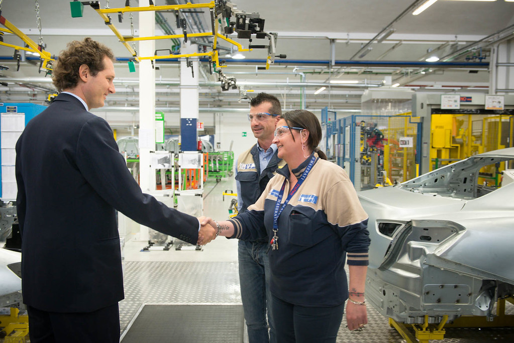 John Elkann at the new Maserati Plant in occasion of the EXOR Shareholders' Meeting