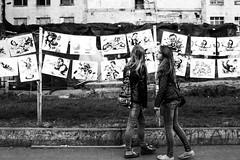 Street exhibition (Solylock) Tags: camp bw wheel blackwhite noiretblanc drawing streetphotography tire ukraine exhibition nb cocktail mai molotov kiev avril kyiv pneu maidan paramilitary 2014 photoderue ukrainia paramilitaire madan euromaidan