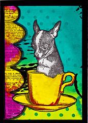 MailArt15_0024 (kattera22) Tags: dog art coffee atc tea stamps stamping rubberstamps 100proofpress