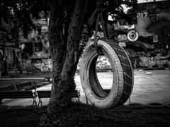 Swing Swing (borripun) Tags: park blackandwhite bangkok swing ratchdhevi