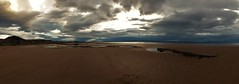 The West Beach..x (Lisa@Lethen) Tags: sea beach scotland sand skies panoramic moray firth rockpools