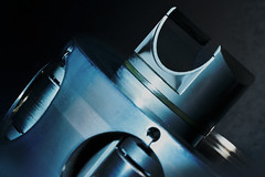 Cylinder of a Poclain hydraulic engine for MM (Wim van Bezouw) Tags: metal cylinder object steel macro macromondays madeofmetal poclain hydraulics piston hydraulic