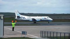 Northern Saab (ƒliçkrwåy) Tags: glgnm saab 340 340a loganair flybe airline airliner aircraft aviation kirkwall koi egpa airport orkney