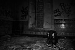 Perfect day (alejo.365shoots) Tags: abandoned girl dark bw ruins house 365